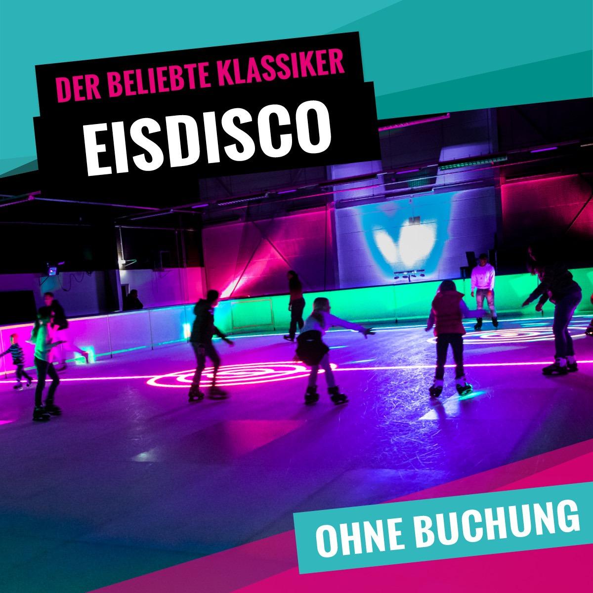 Eisdisco im Schwarzlicht für Jung und Alt bei SLIDE COLOGNE - Kölns 1. Kunsteis-Arena in Dellbrueck