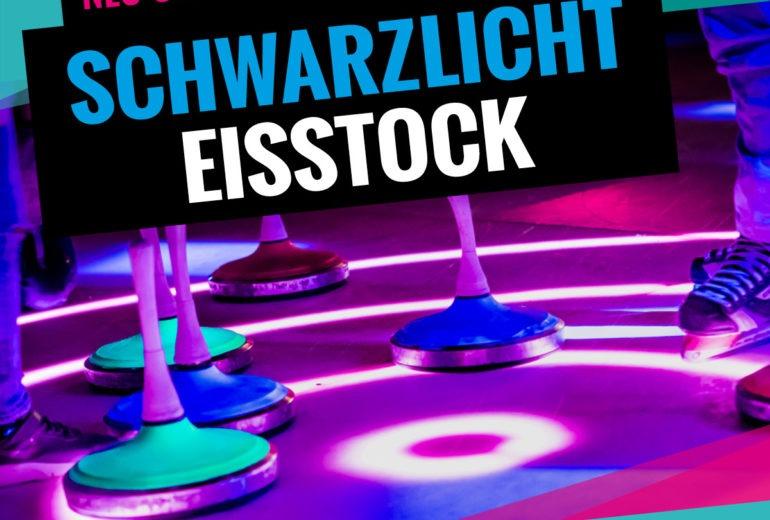 Schwarzlicht Eisstock Schiessen bei SLIDE COLOGNE - Kölns 1. Kunsteis-Arena in Dellbrueck