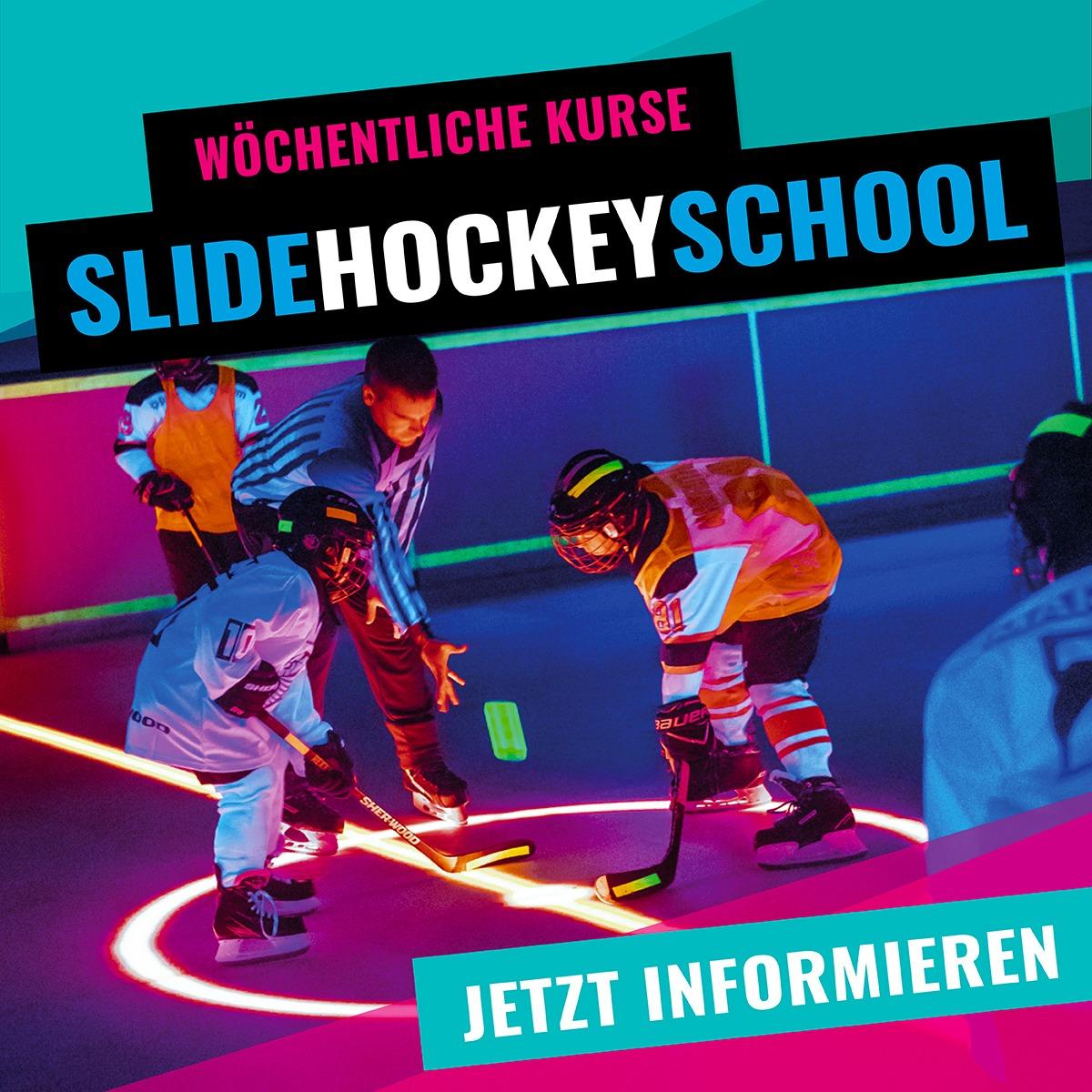 SLIDE COLOGNE Angebotsteaser Hockeyschule und Skate Lauflernschule